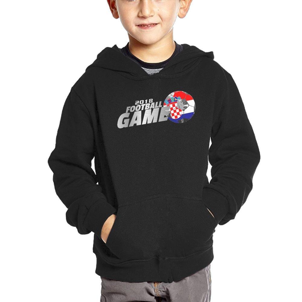 Small Hoodie 2018 Football Game Croatia Boys Casual Soft Comfortable Sweatshirts Kangaroo Pocket Hoodies