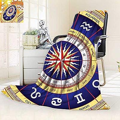 Amazon com: Unique Custom Blanket Astrological Wheel Zodiac