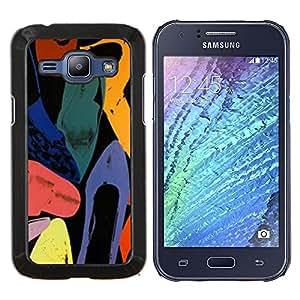Planetar® ( Arte abstracto de colores de la acuarela ) Samsung Galaxy J1 J100 Fundas Cover Cubre Hard Case Cover