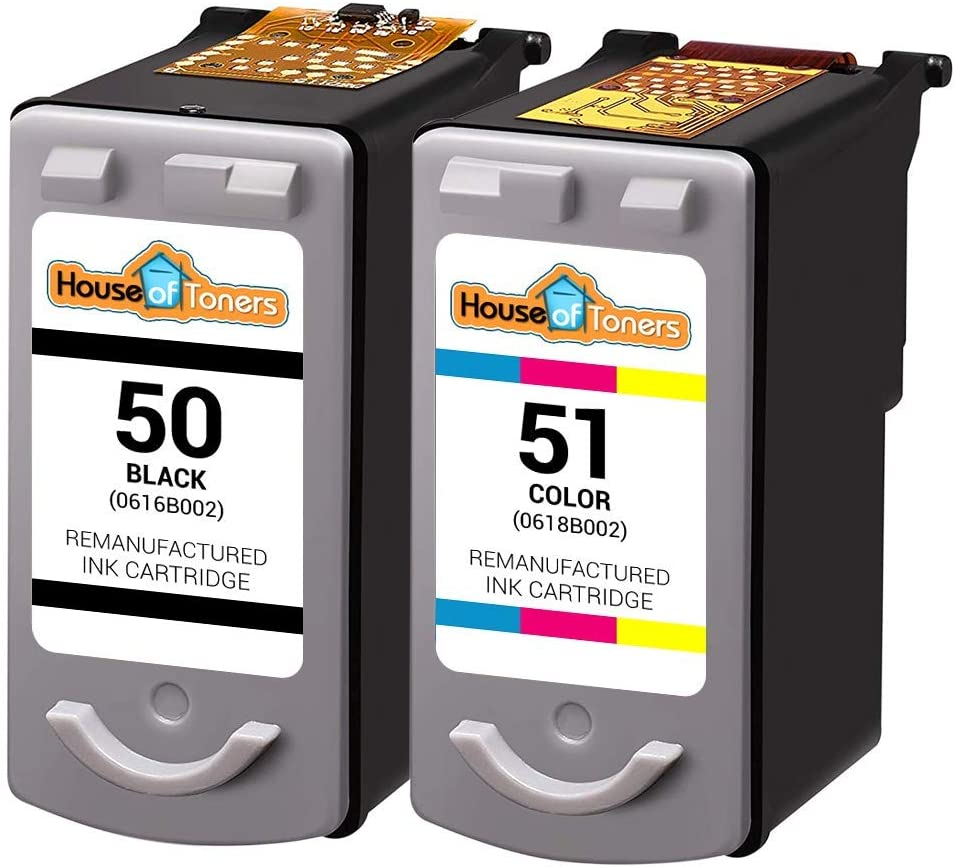 1 Black HouseOfToners Remanufactured Ink Cartridge Replacement for Canon PG-50