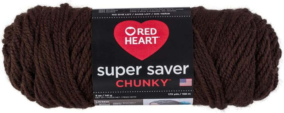 Red Heart E306.0341 Super Saver Chunky Yarn Lt Grey