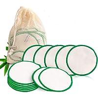 JUNSHUO 20 Stuks Herbruikbare Bamboo Wattenschijfjes, Huidverzorging Gezichtsreinigingsdoekjes - Zero Waste Duurzame…
