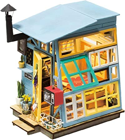 MRR Casa de muñecas Cabaña de Madera Que modela el Bricolaje Set Casa de jardín Bolsa