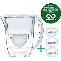 Aqua Optima Oria Carafe filtrante avec 1x 30Jour Evolve Filter–Lot DE 1Mois