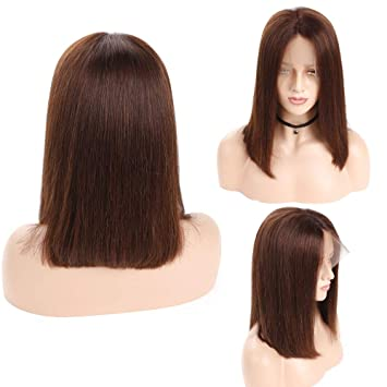 Hair Extensions & Wigs Lace Front Human Hair Wigs Brazilian Short Bob Wig Pre Plucked Wigs For Black Women Straight Remy Hair Djs Beauty