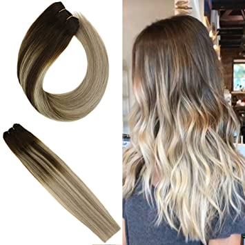 YoungSee Human Hair Weave Extensions 20inch Balayage