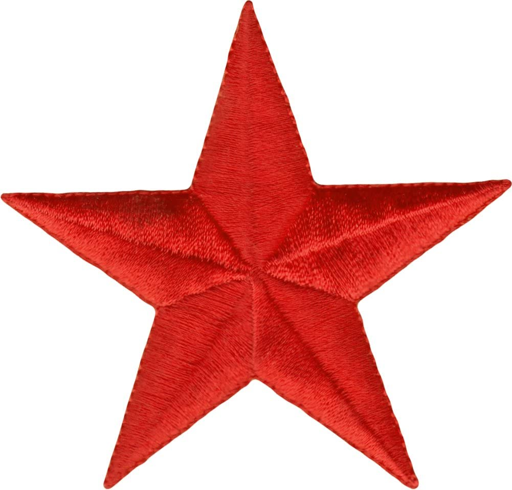 10Pcs Red Star Sequin Patch Applique Craft Embroidery Sew On Women Clothing