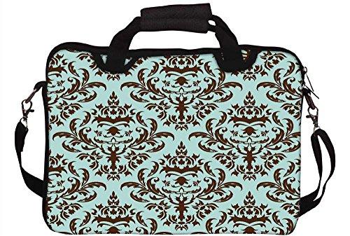 Snoogg Lite Blau Muster Laptop Netbook Computer Tablet PC Schulter Case mit Sleeve Tasche Halter für Apple iPad/HP TouchPad Mini 210/Acer Aspire One und die meisten 24,6cm 25,4cm 25,7cm 25,9cm Zol