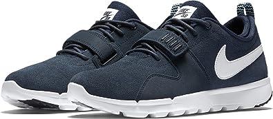 Nike SB Trainerendor Leather Obsidian/White Men's Skate Shoes