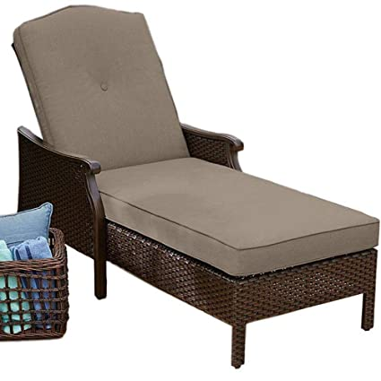 Amazon.com: Silla reclinable de mimbre para salón o patio de ...