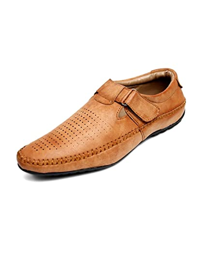 a9759d68b2dd5 Peponi Men s Camel Faux Leather Casual Sandal P-07  Buy Online at ...
