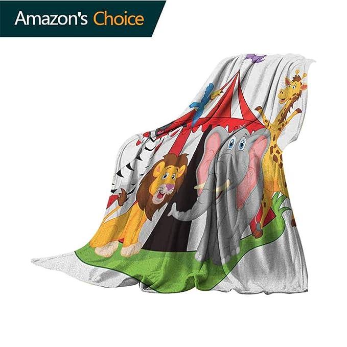 Custom&blanket Manta con diseño de Circo y Texto en inglés ...
