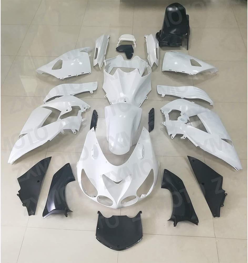 ZXMOTO Motorcycle Fairing Kit for 2006 2007 2008 2009 2010 2011 Kawasaki Ninja ZX14 ZX14R ZZR1400,Unpainted Injection Mold ABS Plastic Bodywork Fairings