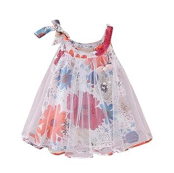 574fe583ce36e Vêtements pour Enfants WINWINTOM 2018 Nouveau-Né BéBé Filles Imprimé Floral  Princesse Sangle De SoiréE