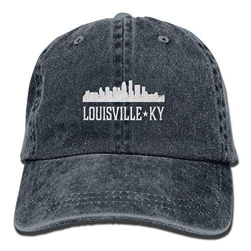 Funny Baseball Caps Louisville Kentucky Skyline KY Cities Embroidered Sport Snapback Cap Hat ()