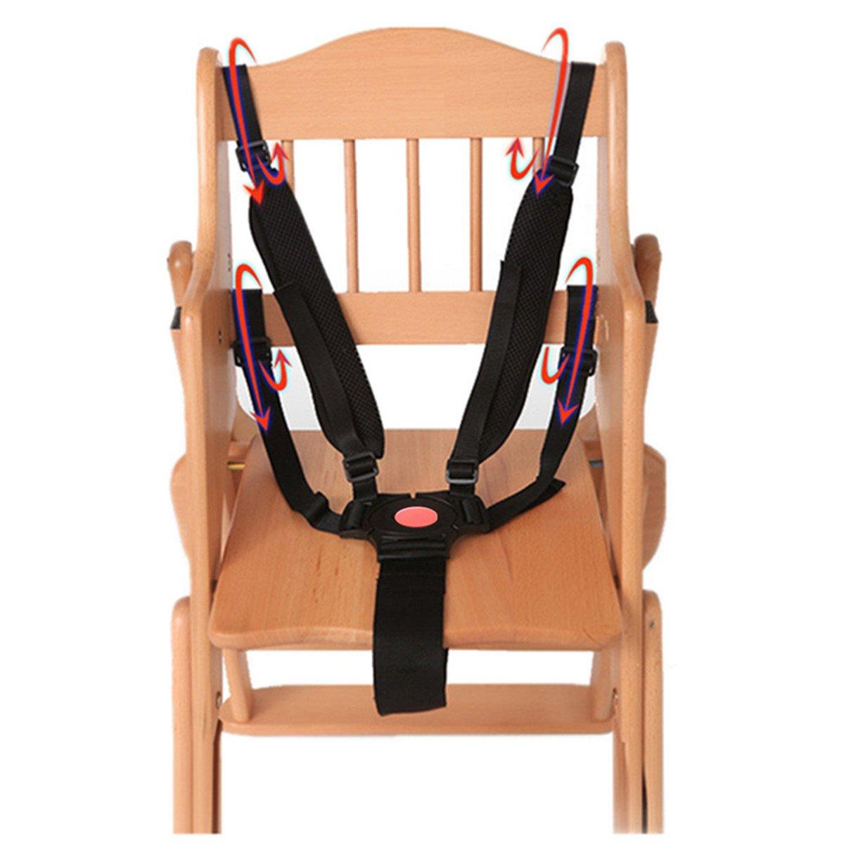 Noir Ruiyingbaby 5 Point Harness Ceinture de s/écurit/é Ceintures de s/écurit/é pour la poussette Chaise haute