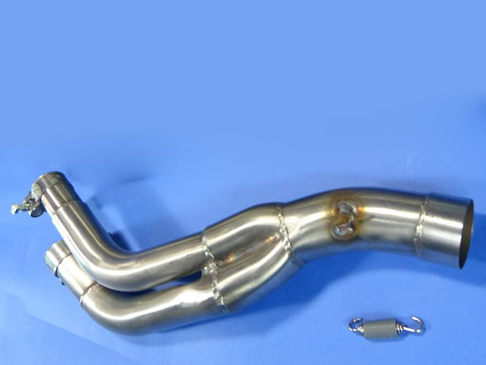 Auspuff Adapter 50mm Rechte Seite 2 1 Ersatzteil Für Kompatibel Mit Honda Nx650 Dominator 88 96 Auto