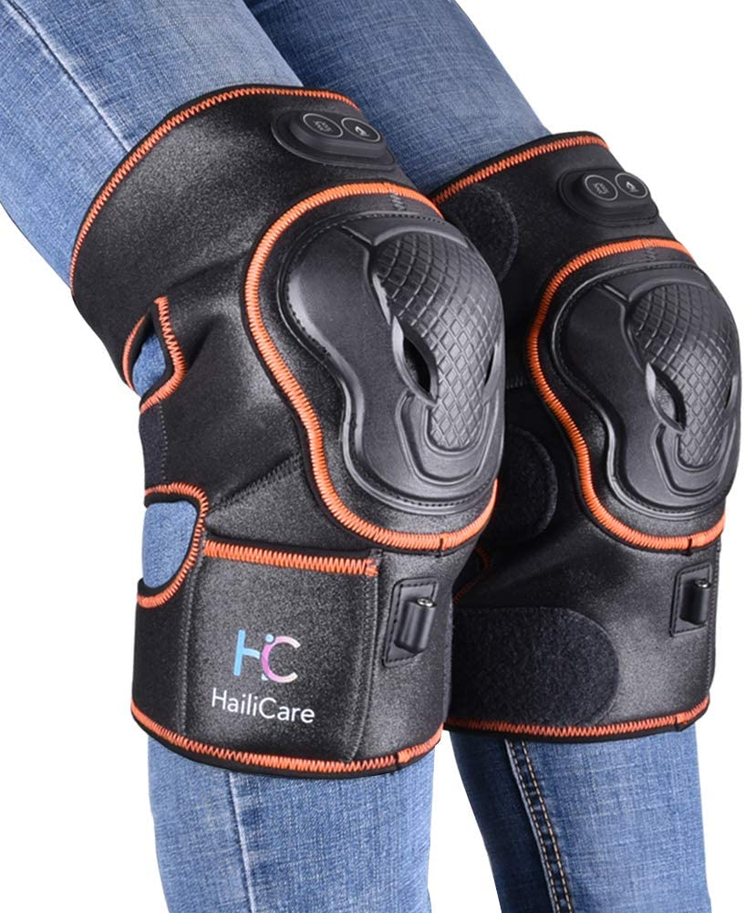 Massaging Heated Knee Brace Wrap Support