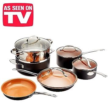 Trendy batterie de cuisine avec poles et casseroles en - Batterie de cuisine pour plaque a induction ...