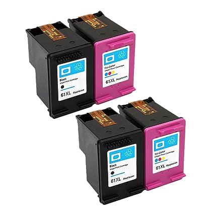 Eston 4 Pack - remanufacturados cartucho de tinta para HP61 ...