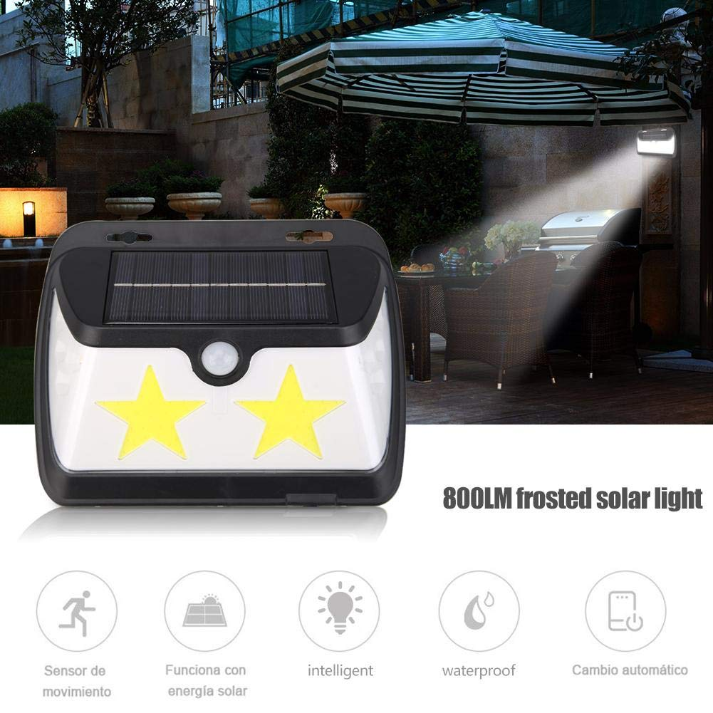 LED Solar Heat-Sensing Sensor Wall Light 8LED Patch+58COB 800LM Home Lamp for Yard/Street/Outdoor/Garden - - Amazon.com