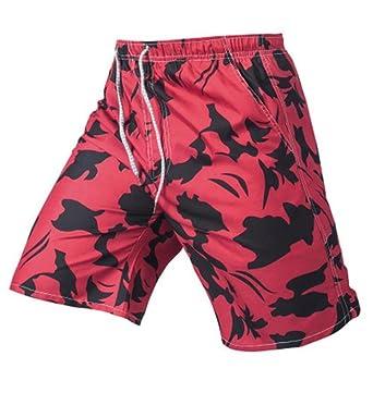 84352020b337b Nanquan-men clothes NQ Men's Fashion Hawaiian Print Swim Trunks Beach  Boardshorts with Pockets | Amazon.com