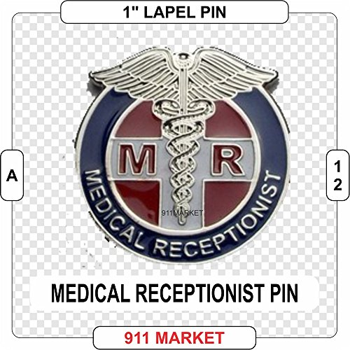 (Medical Receptionist Lapel Pin Clinic Hospital Secretary Admin Clerk A 12 )