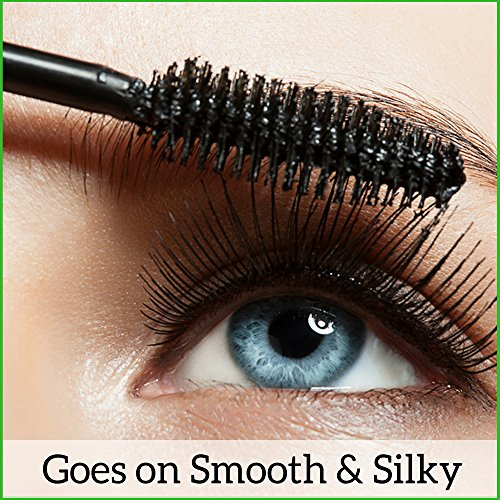 Natural Mineral Mascara | Made w Organic Ingredients | Non GMO | Hypoallergenic for Sensitive Eyes | Add Length & Volume | Vegan | Cruelty Free | Soften, Nourish & Grow Better Lashes! by Skin2Spirit (Image #5)