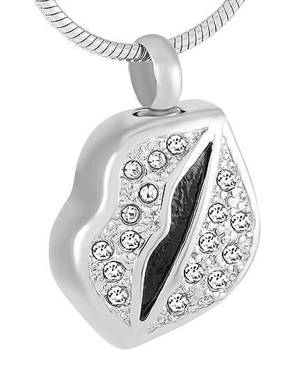 Amazon.com: Casket Etcetera Kiss Lips urna collar joyas para ...