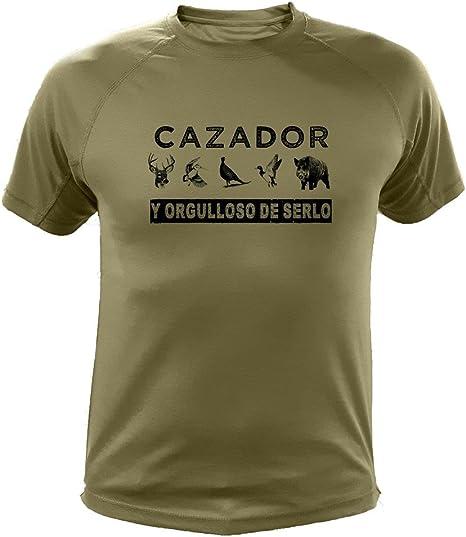 AtooDog Camiseta de Caza Cazador y Orgulloso de Serlo - Ideas Regalos: Amazon.es: Deportes y aire libre