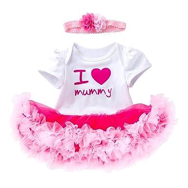 Harpily Vestidos Bebé Niña para cumpleaños, Tutu Falda ...