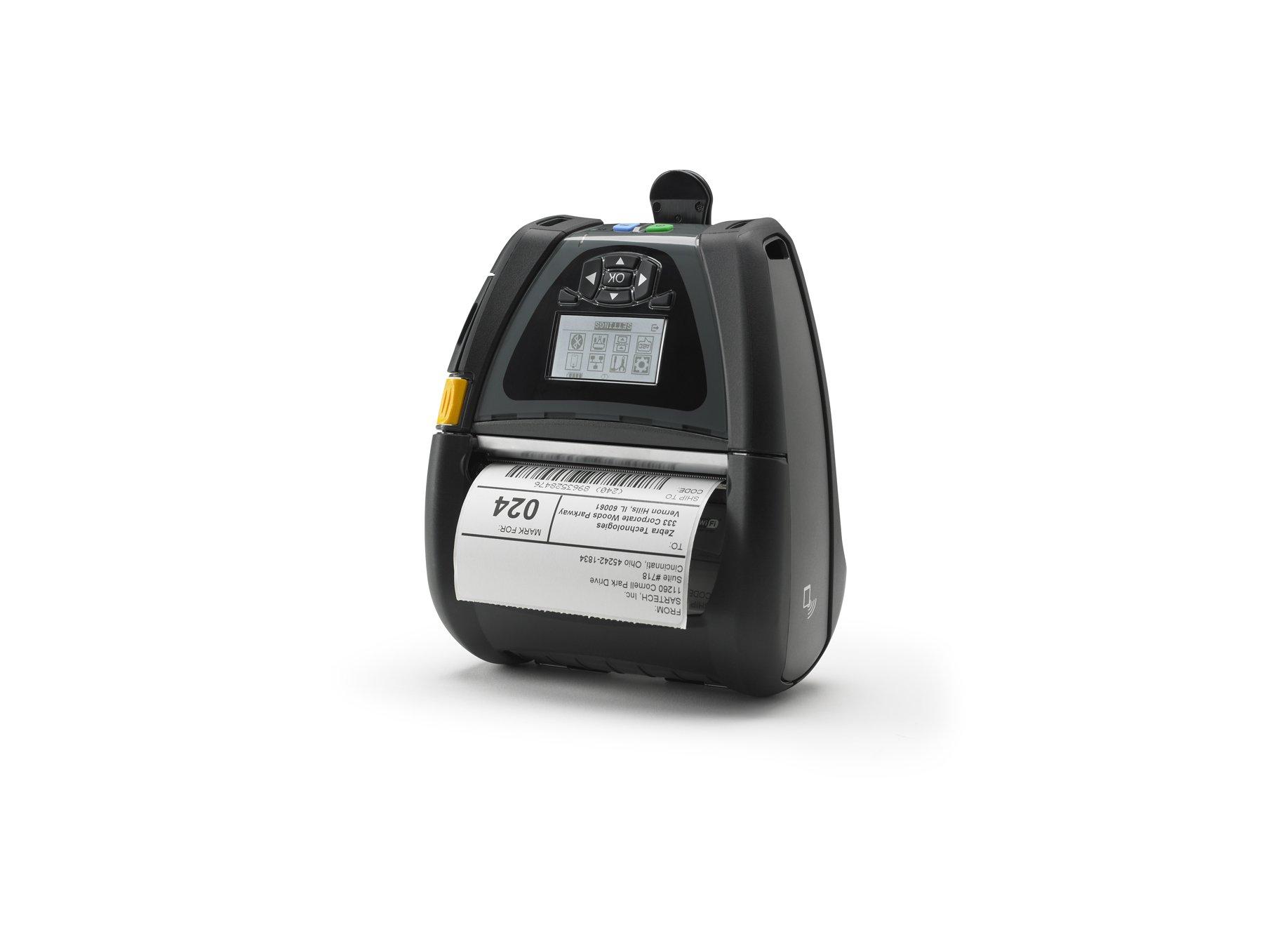 Zebra Technologies QN4-AUNA0M00-00 Mobile Printer, QLn 420 Series, USB, 4'' Print Width, 7.35'' x 6.5'' x 3.25'' Size