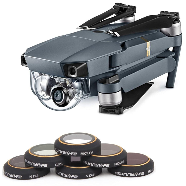 kanzd mrc-uv mrc-cpl nd4 nd8 nd16 nd32カメラレンズHDフィルタfor DJI Mavic Pro Drone B079FJYLDLブラック