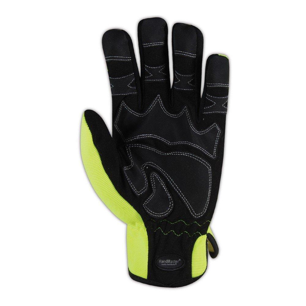 Hi//Vis Yellow MAGJJ X-Large Magid Glove /& Safety MECH106XL HandMaster MECH106 High-Visibility Mechanics Gloves Full Finger