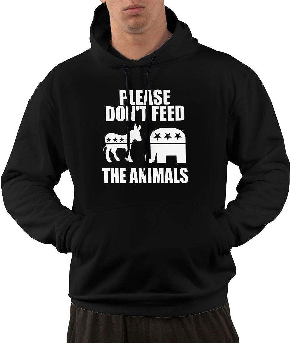 Slotley Please Dont Feed The Animals Mens Hoodie Sweatshirt