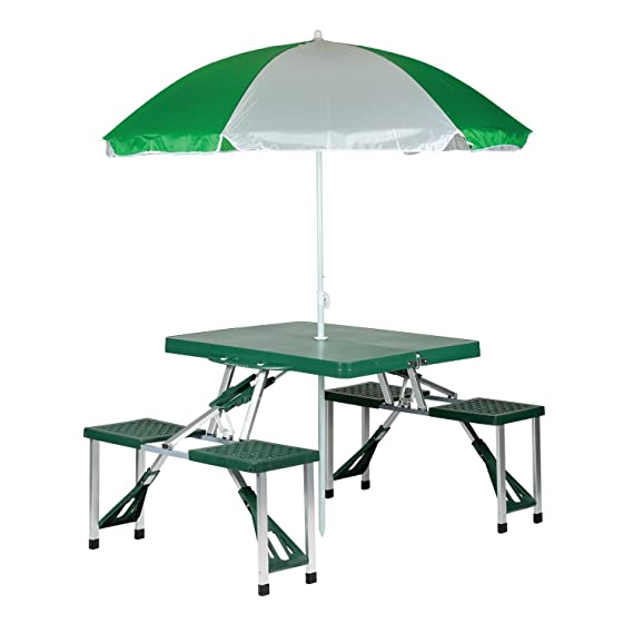 Amazoncom Stansport Picnic Table And Umbrella Combo Pack - Metal picnic table with umbrella