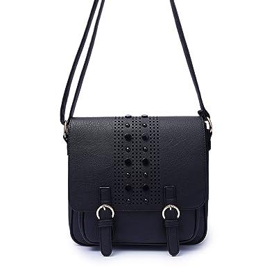 981f79f945f67 HGDR Retro Handtasche Frauen Schulter Messenger Bag Plain Schnalle Portable  Umhängetasche