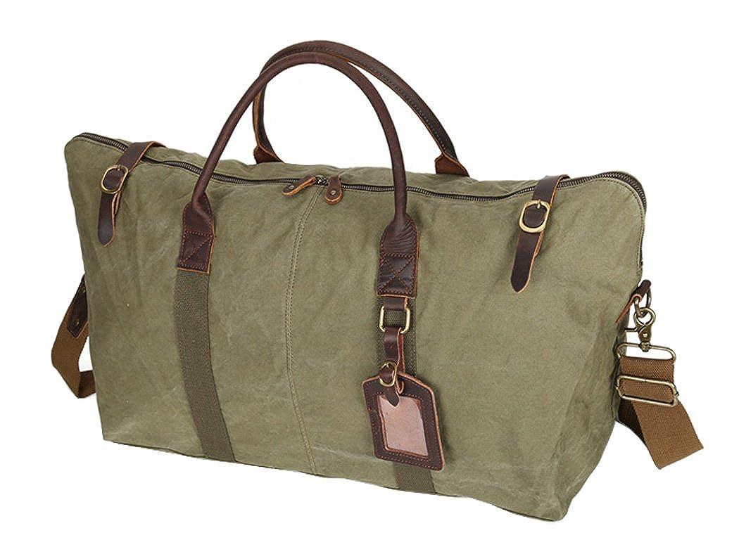 SOURCE POINT旅行バッグハンドバッグトートバックスーツケース新型帆布大容量 L 軍の緑 B07C97XX42