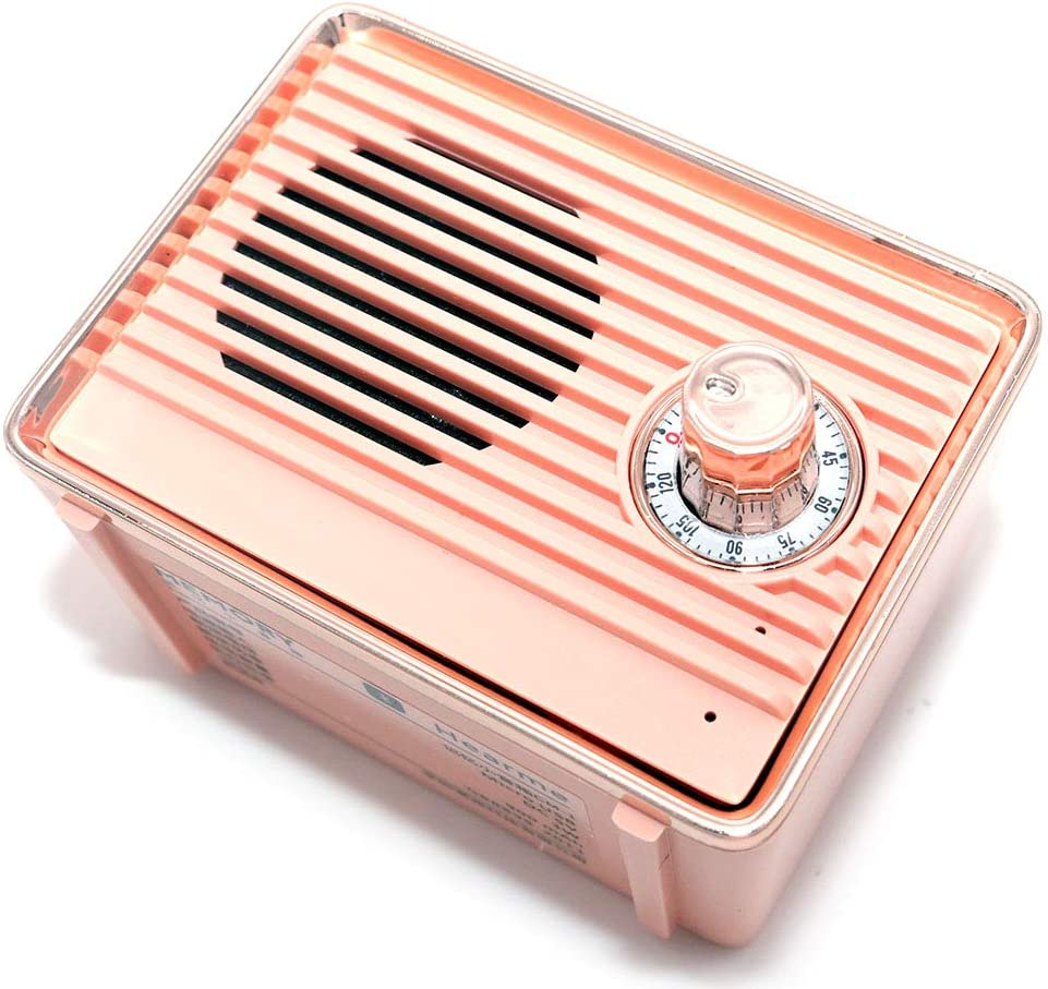 for Android Smart Phone Pink VOANZO Portable Bluetooth Speaker Wireless Retro Bass Callable Speaker