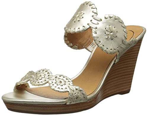 d67f3bec7fd9 Jack Rogers Women s Luccia Wedge Sandal Platinum  Amazon.ca  Shoes ...