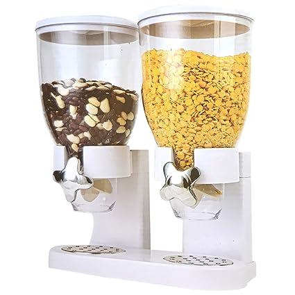 vetrineinrete® Doble dispensador para cereales con Dial dosificador Muesli almacenar para casa Restaurante desayuno P34
