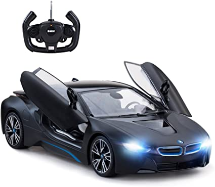 Amazon Com Rastar Remote Control Car 1 14 Bmw I8 Radio Remote Control Racing Rc Toy Car Model Vehicle Open Doors By Rc Mattblack Toys Games