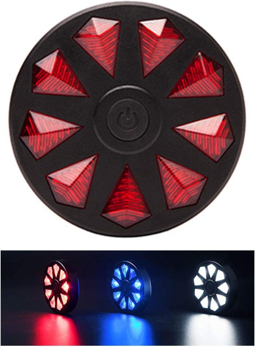 Feu Arri/ère de Mode V/él ASEOK Feux Arri/ère de V/élo,Feux de Chargement /à Del USB de la Lampe de Bicyclette Sports LED Rouge feu Arri/ère de v/élo /à Haute Intensit/é /étanche /à 6 Feux