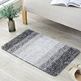 Lifewit 32'' by 20'' Non-Slip Soft Fluffy Water Absorbent Shaggy Bath Mats Bathroom Rugs Machine Washable Mat Rug Grey