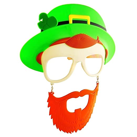 St. Patty's Day Top Hat Leprechaun Sun-Staches Costume Sunglasses pfXrmpZlR9