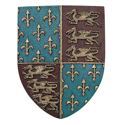 Medieval Sculpture - Pacific Giftware Medieval Times Royal Coat of Arms Shield Wall Sculpture Decor