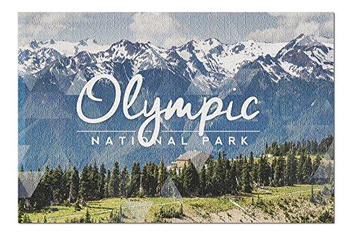 Olympic National Park, Washington - Hurricane Ridge Visitor Center (20x30 Premium 1000 Piece Jigsaw Puzzle, Made in USA!)