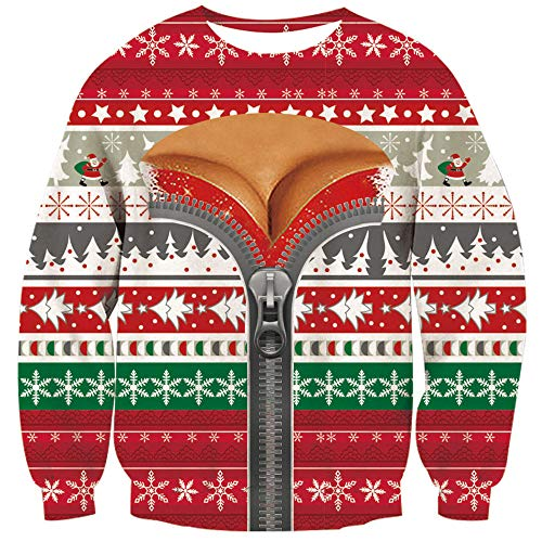 Loveternal Boys Girls Merry Christmas Sweater Xmas Snowflake Bikini Pullover Sweatshirts Blouse Shirt XL
