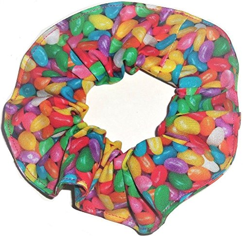 Easter Jelly Beans Fabric Hair Scrunchie Handmade by Scrunch
