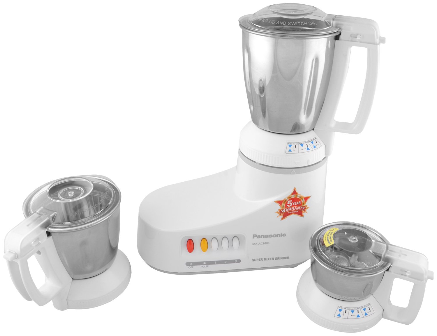 Buy Panasonic Mx Ac300s H 550 Watt 3 Jar Super Mixer Grinder Grey Wiring Devices Philippines Online At Low Prices In India